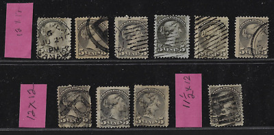 Canada Stamps — 1888-93, Small Queen issues, Queen Victoria 5ȼ #42 — Lot 20642