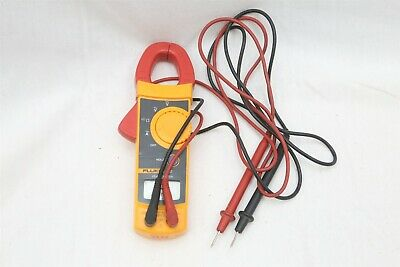 Fluke 322 AC/DC Clamp Meter Multimeter w/ Leads