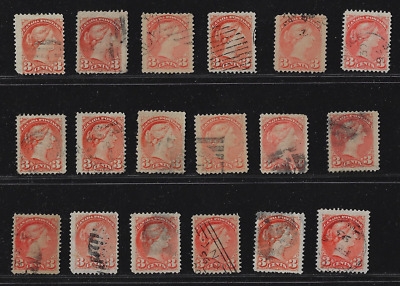 Canada Stamps — 1888-93, Small Queen issues, Queen Victoria 3ȼ #41 — Lot 20657