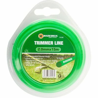 Rotatech 15m x 1.3mm Round Strimmer Universal Trimmer Cord For Petrol /& Electric