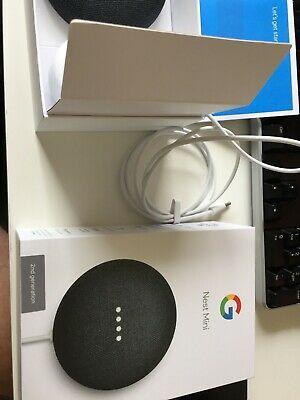 Google Nest Mini (2nd Generation) Smart Speaker - Chalk - Opened item, used once