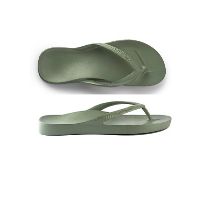 Mens Archies High Arch Support Thongs Khaki Sandal Flip Flop