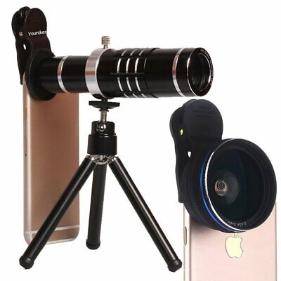 18x Telescope Camera Phone Lens+Wide Angle lens Clip For iPhone 11 XS Max 8 Plus