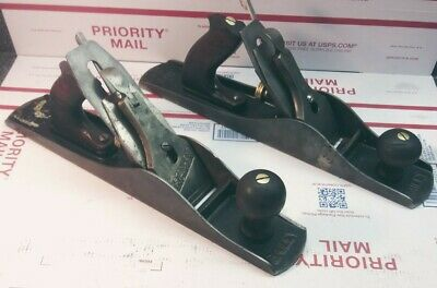2 - Stanley Bailey No. 5 Smooth Bottom Jack Planes -Type 11 * FOR PARTS *