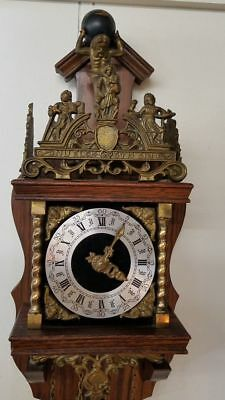 Franz Hermle Cuckoo Clock Made in Holland Antique Vintage Wood & Brass