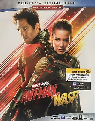 ANT-MAN AND THE WASP ~ Blu-Ray + Digital Code *New *Factory Sealed