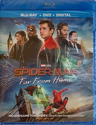 SPIDER-MAN ~ FAR FROM HOME ~ Blu-Ray + DVD + Digital *New *Factory Sealed ~