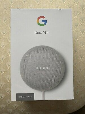 Google Nest Mini (2nd Generation) Smart Speaker - Chalk - BRAND NEW