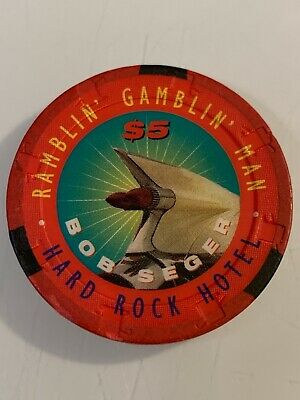 HARD ROCK HOTEL Bob Seger $5 Casino Chip Las Vegas Nevada 3.99 Shipping