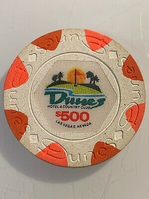 DUNES HOTEL $500 Casino Chip Las Vegas Nevada 3.99 Shipping