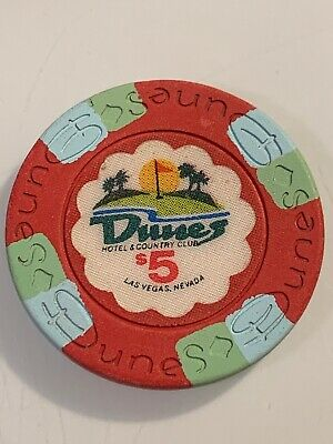 DUNES $5 Casino Chip Las Vegas Nevada 3.99 Shipping