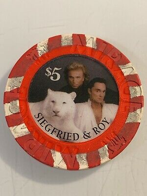 The Mirage SIEGFRIED & ROY $5 Casino Chips Las Vegas Nevada 3.99 Shipping