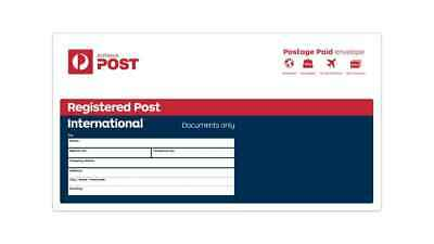 10 x Australia Post Small DL Registered International Envelopes- Free Delivery