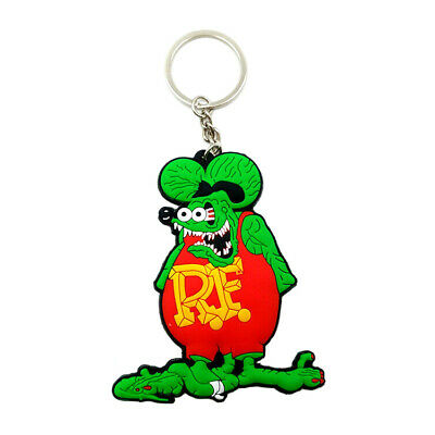 Rat Fink Green Double Sided New Gift Key Chain Soft Rubber Pendant Action Figure
