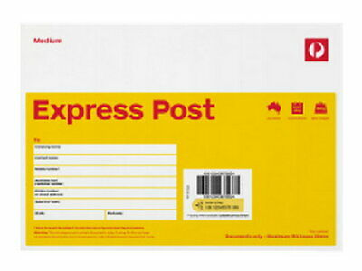 10 X Express Post Medium (C5) Envelope - 10 Pack RRP $72.65 FREE POST