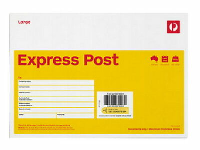 10 X Express Post Large (B4) Envelope - 10 Pack RRP $86.30 FREE POST