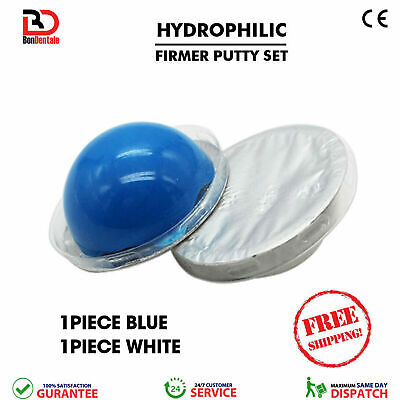 Dental Hydrophilic Firmer Putty 2 Pcs Set Disposable Impression Putty Material