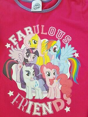 Girls pyjama top age 7-8. 100% cotton. My little pony. (Missing bottoms.)