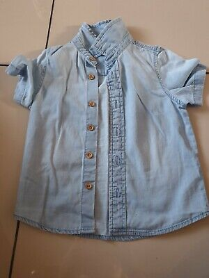 Boys Marks And Spencer Denim shirt Age 12/18 Months