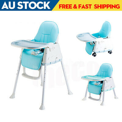 3 in1 Baby Infant Highchair Dining High Chair Durable Kid Eating Feeding Seat AU