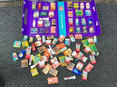 (Lot #1) Coles Little Shop Mini Collectables Bulk with a folder