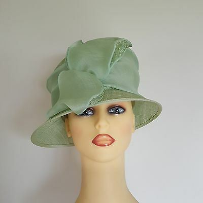 Ladies Formal Hat Wedding Races Warm Mint Green by Whiteley