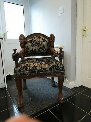 Carved, chair, throne, unique, unusual, bespoke
