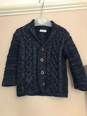 Baby Boy Navy Next Cardigan 6-9months