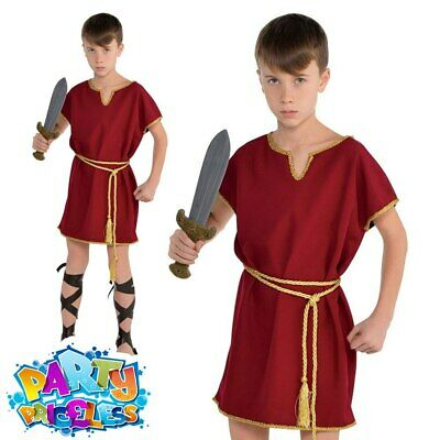 Boys Roman Emperor Toga Historical Book Day Fancy Dress Costume Outfit 4-12 yrs