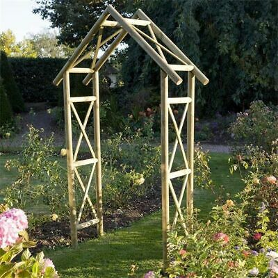 RUSTIC Wooden Garden Arch Archway Pressure Treated Against the Rot