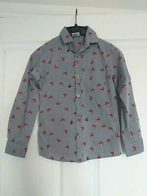 Boys Next Angry Birds Denim Blue Shirt Age 7