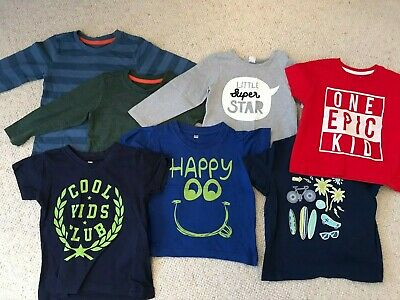 Boys T-Shirt Bundle - Age 12 - 18 Months Long and Short Sleeve