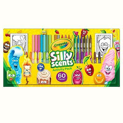 Crayola Silly Scents 60Pc Activity Pack, Markers Pencils Smelly Fun