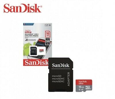 Sandisk Micro SD Card W/ Adapter 16GB UltraPlus A1 Memory Card 98 mb/s *FAST*