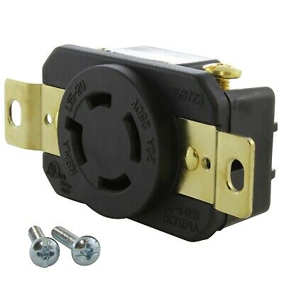 20 Amp 3-Phase 250 Volt NEMA L15-20R DIY Replacement Outlet by AC WORKS®
