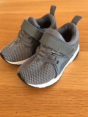 Next Baby Boys  Girls Navy Shoes Trainers velcro fastened Size 4 Infant New