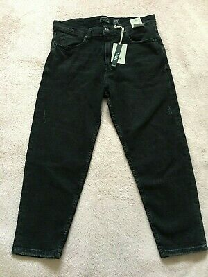 Pull And Bear Mens Boys Loose Denim Trousers Jeans Grey Size Eur 42  Mex 32