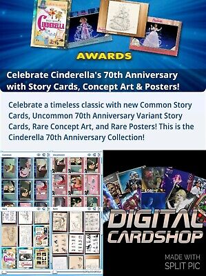 Topps Disney Collect Cinderella's 70th Anniversary Complete Set All 91 Cards!