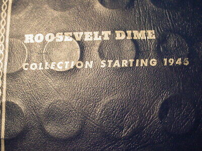 Roosevelt Dimes Set Complete 48 Coins Set 1946-1964 In Folder # 36