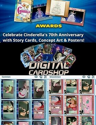 Topps Disney Collect Cinderella 70th Anniversary Story & Variant Card Set of 70