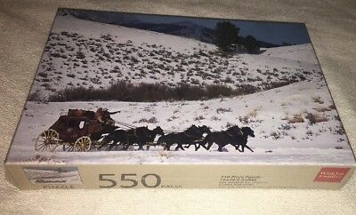 New Wells Fargo Bank Stage Coach Horses 500 Piece Puzzle - RARE & HTF