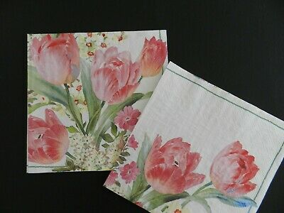 4x Paper Napkins for Decoupage Decopatch Craft Two Doves