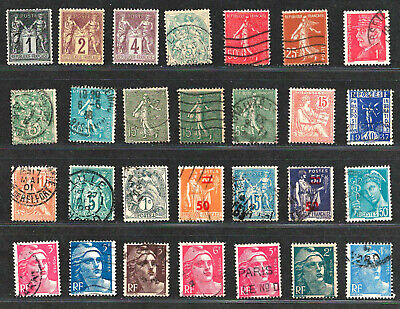 FRANCE Amazing Set  Mint & Used  Very Old Small Stamps