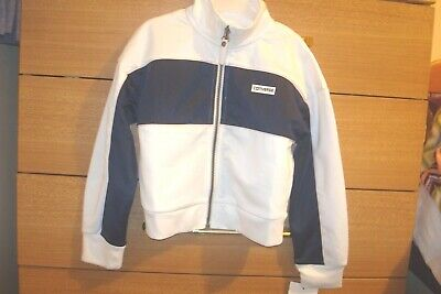 CONVERSE Girls Track Jacket White & Navy with pink trims Age 5-6 Years RRP £48