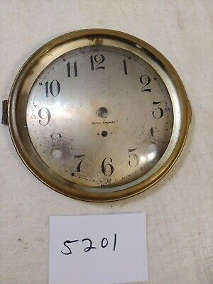 Antique Seth Thomas Tambour Mantle Clock Dial And Bezel With Glass 89