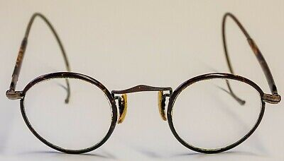 Windsorring Brille Hornbrille alt mit Federbügel Windsorring ca. von1920