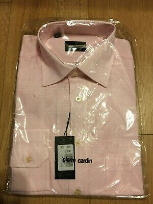 Pierre Cardin Pink Shirt Size 16 And 1/2