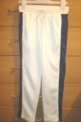 CONVERSE Girls White & Navy with Pink trim Tracksuit Trousers/Bottoms 6-7Yrs