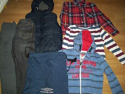 Boy's winter bundle of clothing.Age 7-8 years.Gilet, jeans, joggers, tops +