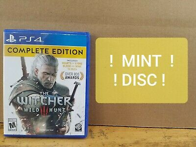 The Witcher 3: Wild Hunt Complete Edition PS4 Same Day Shipping Mint Disc Manual